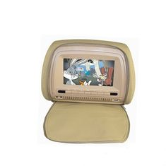 Universal 9 Inch Headrest DVD Player ABS Material Type Built In 2 Speakers